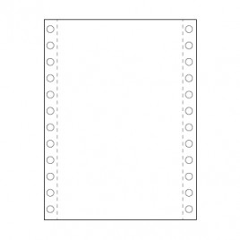 Papel Continuo 11×15 2 Via Branco 60gr Cx1000 Fls