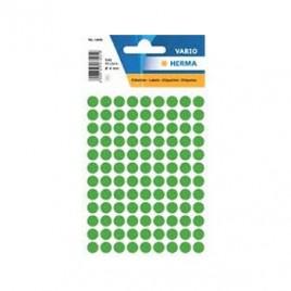 Etiquetas Redondas 08mm Verde Escu Herma1835  540un