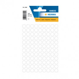 Etiquetas Redondas 08mm Branco Herma1840  540un