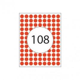 Etiquetas Redondas 08mm Vermelho Herma1842  540un