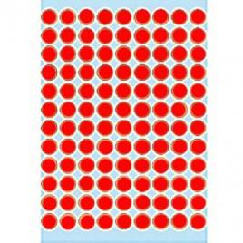 Etiquetas Redondas 08mm Vermelho Fluorescente Herma1846 540u