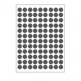 Etiquetas Redondas 08mm Cinza Herma1838  540un