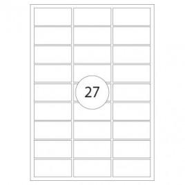 Etiquetas Transp,Mate Inkjet 63,5×29,6mm 25fls 675 Etiquetas