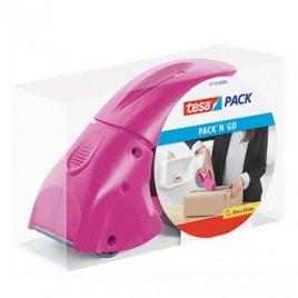 Desenrolador Punho Fita 50mm Tesa Pack N Go – Rosa
