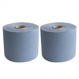 Rolo Toalhas Maos CleanSpot Azul 2Fl  (400mts) – (2un)
