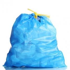 Sacos Lixo Plast 50Lts c/Fecho Azul 23my (60x80cm) (10un)