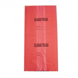 Sacos Lixo Plast 80myc(80x120cm)Vermelho p/Resid Toxico 10Kg