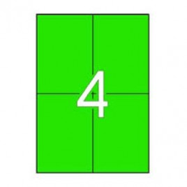Etiquetas 105×148 Apli 20 Folhas A4 80un Verde