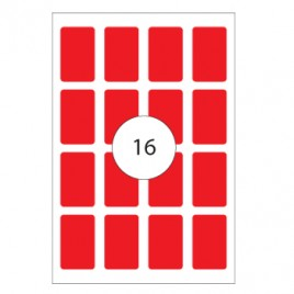 Etiquetas 25×40 Apli 8 Folhas 128un Vermelho