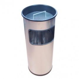 Papeleira e Cinzeiro 17 litros Prateado
