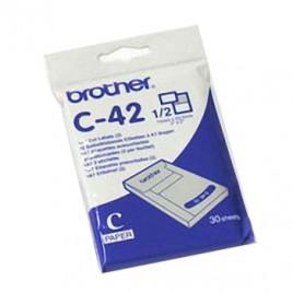 Folha Etiquetas Pre-Cortadas A7 (2/folha) (C42) 52,5mmx74mm