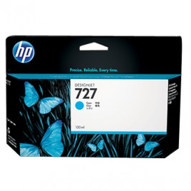 Tinteiro 727 HP Designjet T1500/T920 Ata Cap, Cian
