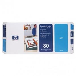 Cabeca de Impressao + Kit Limpeza DJ1050/1055 Nº80 Azul