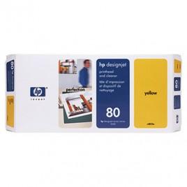 Cabeca de Impressao + Kit Limpeza DJ1050/1055 Nº80 Amarelo