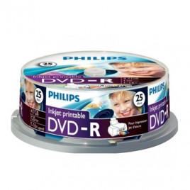 DVD-R Philips 4,7GB 16X Spindle Pack 25 Printable