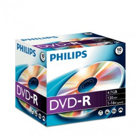 DVD-R Philips 4,7GB 16X Jewell Case 10