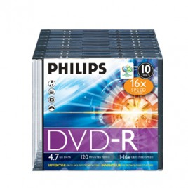 DVD-R Philips 4,7GB 16X Slim Case 10