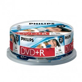 DVD+R Philips 4,7GB 16X Spindle Pack 25 Printable