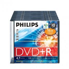 DVD+R Philips 4,7GB 16X Slim Case 10