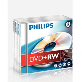 DVD+RW Philips 4,7GB 4X Jewell Case 5