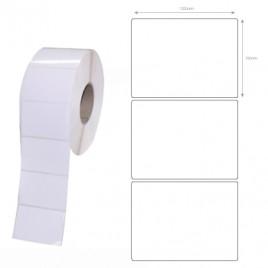 Etiquetas Zebra polyester 102×76 12 rolos 930 etiq, brancas